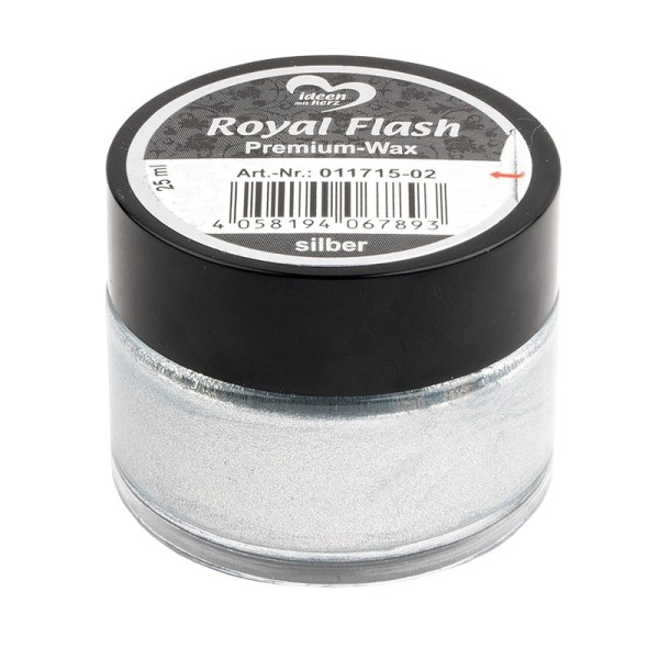 Royal Flash, Premium-Wax, silber, 25ml
