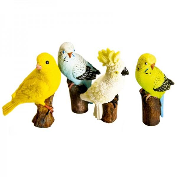 Deko-Vögel, 4 Stück