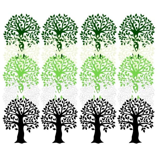 Laser-Kartenaufleger, Baum, 9cm x 11,5cm, 5 Farbtöne, 20 Stück