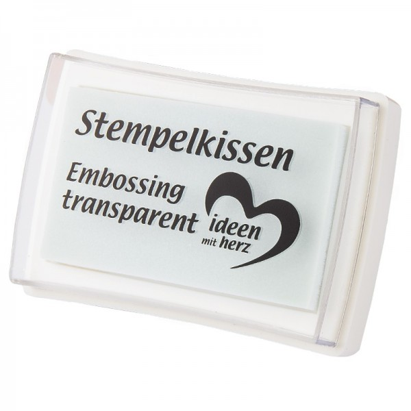 Stempelkissen, 3,5 x 6 cm, Embossing, transparent