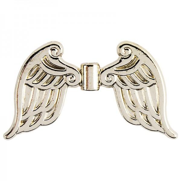 Engelsflügel, Design 4, 3cm, hellgold, 15 Stück