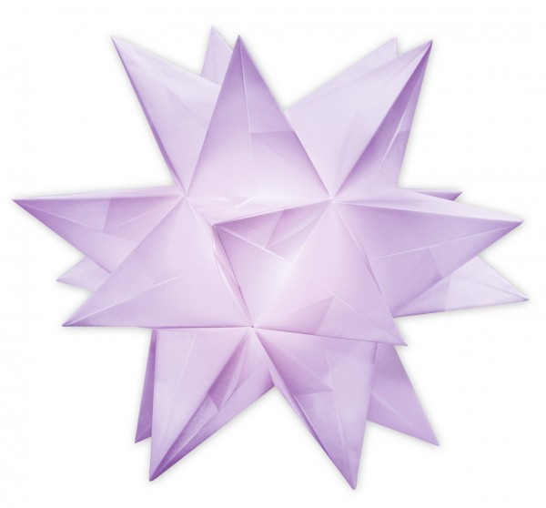 Aurelio Stern Set, transparent, 15cm x 15cm, 33 Blatt, lila