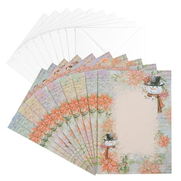 Motiv-Grußkarten, Winterzeit 3, B6, 230 g/m³, 5 Designs, inkl. weißen Umschlägen, 10 Stück