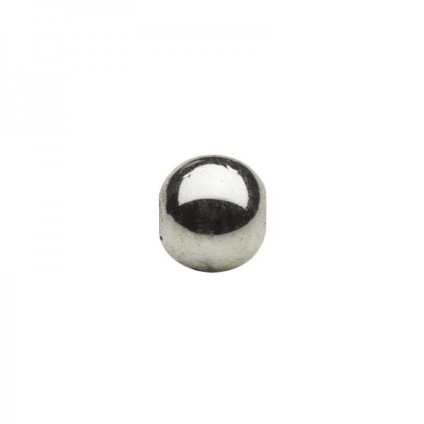 Metallic-Perlen, Ø6 mm, 100 Stück, mocca