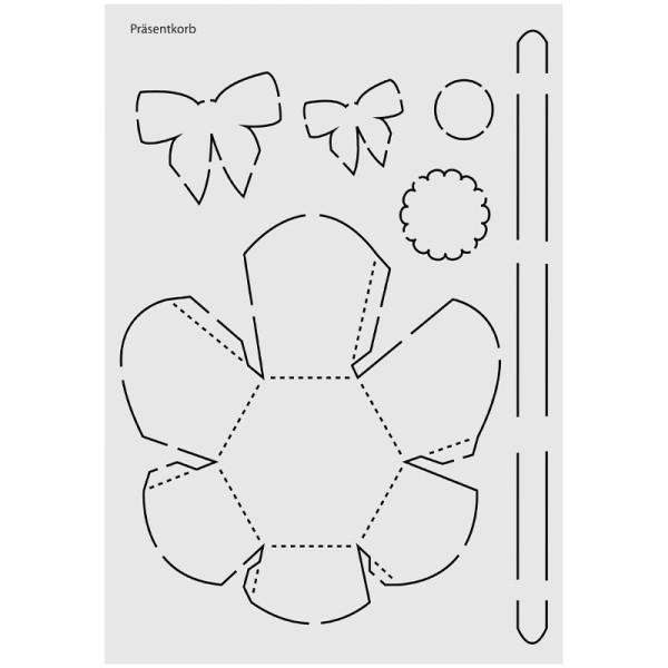 "Design-Schablone Nr. 4 ""Präsentkorb"", DIN A4"
