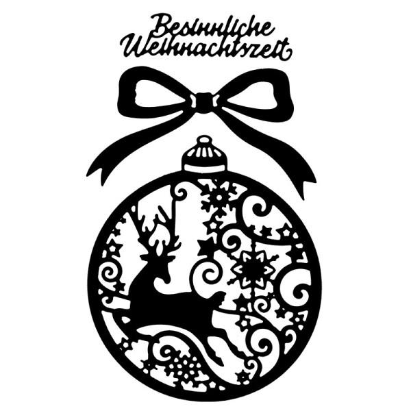 Präge-& Stanzschablonen, Weihnachtskugel, 3 Stück