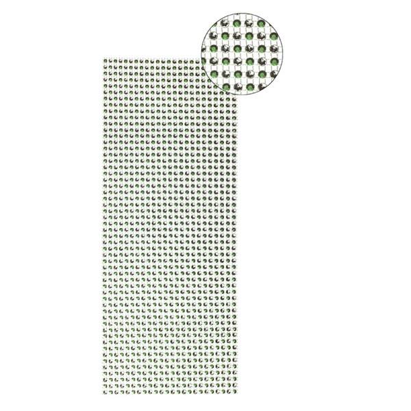 Schmuck-Netz, selbstklebend, 12 x 30 cm, Bi-Color, grün/silber