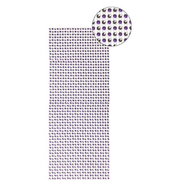 Schmuck-Netz, selbstklebend, 12 x 30 cm, Bi-Color, violett/silber