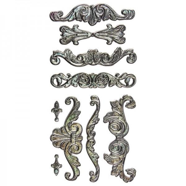 Relief-Sticker Nostalgie, Ornamente, 17,5cm x 9cm