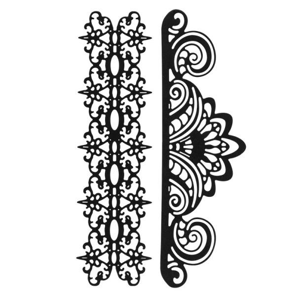 Stanzschablonen, Bordüren 3,verschiedene Größen, 2 Stück
