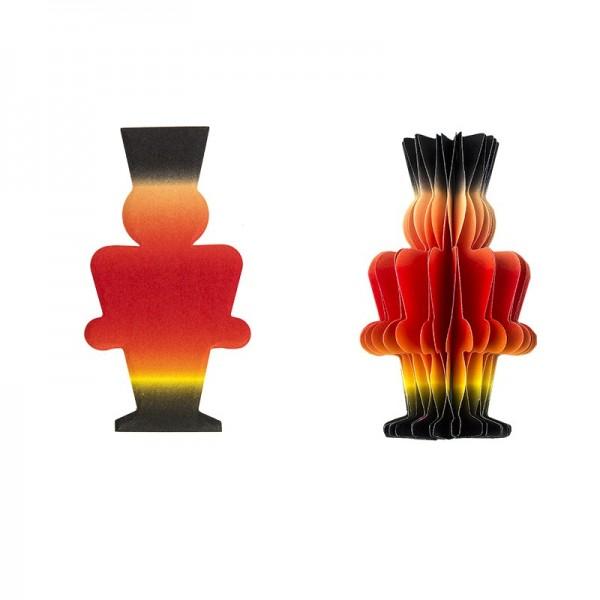 Waben-Stanzteile, Nussknacker, mit Farbverlauf, 8cm x 4,5cm, 100 Stück