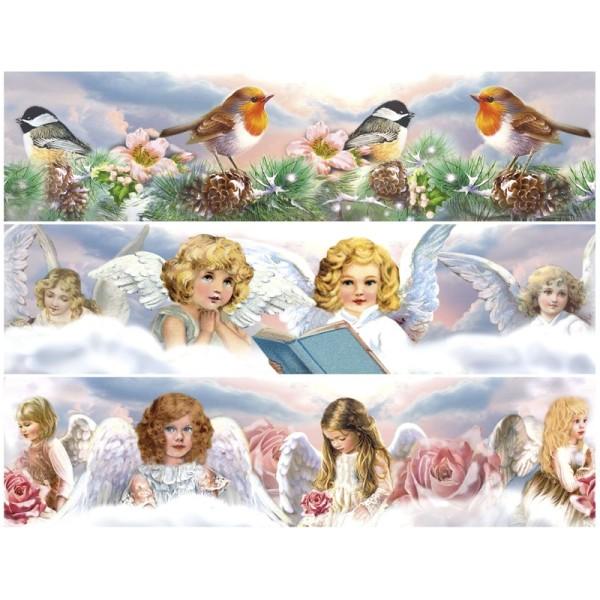 """Zauberfolien """"Himmlische Engel"""", Schrumpffolien für Ø10cm, 8,5 cm hoch, 6 Stück"""