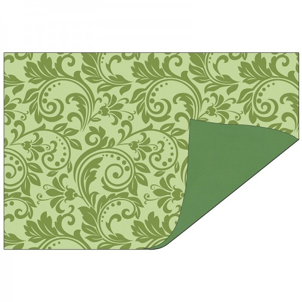 Faltpapiere Duo-Design 31, 10x15 cm, Ornamente/grün, 50 Stück