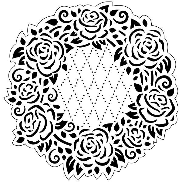 Präge-/Prickelschablone, 14,4 x 14,5 cm, Design 4