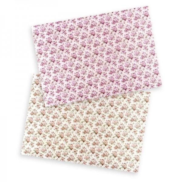 """Reispapiere """"Blüten 2"""", DIN A4, 2 Designs"""