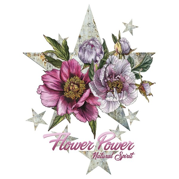 Color Bügeltransfers, DIN A4, Blumen 28
