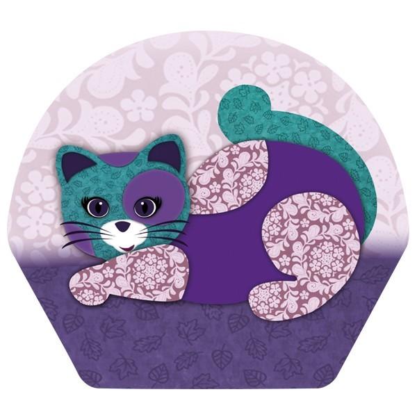 Deko-Bild, Katze I, 18,5 x 20,5 cm, 2er Set