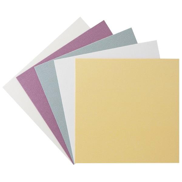 "10er Grußkarten-Set, ""Kashmir Leinen"", 13x13cm, 5 Farben"