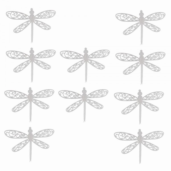 Deko-Libellen, Rohlinge, 11cm x 15,5cm, 10 Stück
