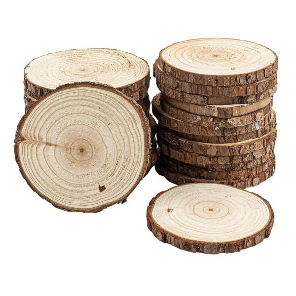 Baumscheiben, Ø 8cm bis 9cm, 0,6cm stark, 25 Stück