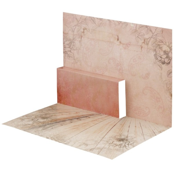 Pop-Up-Grußkarten-Einleger, gefaltet 11 x 15,5 cm, Rosen 1