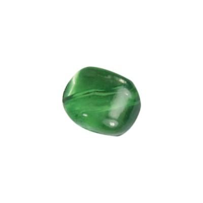 Perle Kissenform, 1cm x 1cm, 10 Stück, peridot