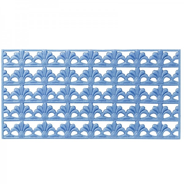 Wachs-Bordüren, Französische Lilie, 5 Bordüren à 2 x 10 cm, blau