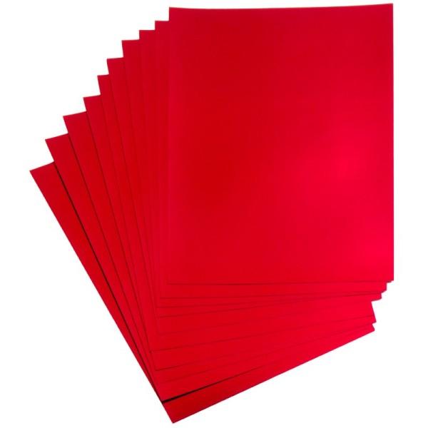 Folienpapiere, Spiegelfolie, rot (beidseitig), DIN A5, 10 Bogen