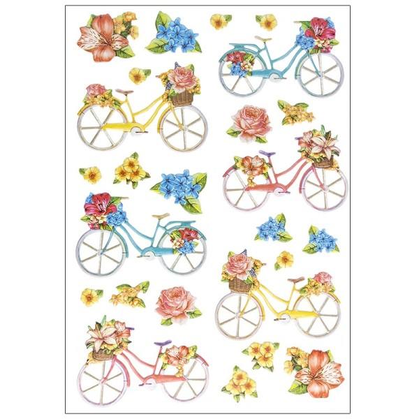 3-D Relief-Sticker, Fahrräder, verschiedene Größen, selbstklebend