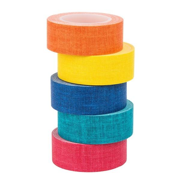 Deko-Stoff-Klebeband, Farbsortierung 1, 20mm x 5m, 5 Rollen