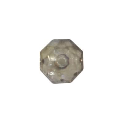 Acryl-Ronden, facettiert, 1 x 1 cm, 50 Stück, rauch-kristall