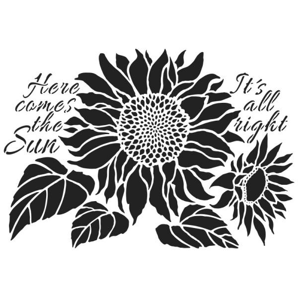 Laser-Kunststoff-Schablone, DIN A4, Sonnenblumen