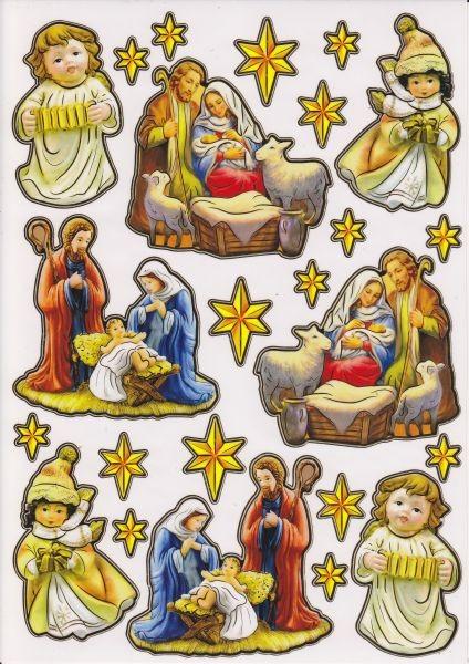 Ultra Gloss Sticker, DIN A4 Bogen, Heilige Familie & Engel