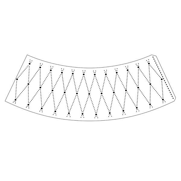 """Lampenschirm-Schablone """"Rauten-Design"""", 27,5 x 11 cm"""