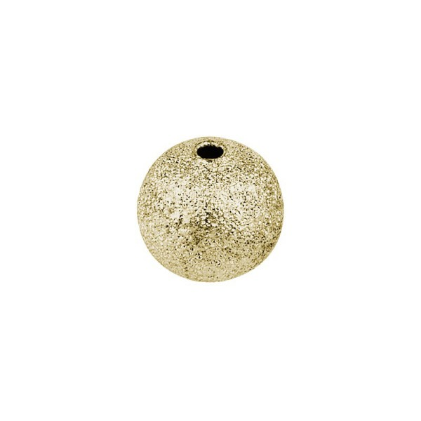 Perlen, diamantiert, Ø1cm, gold, 46 Stück