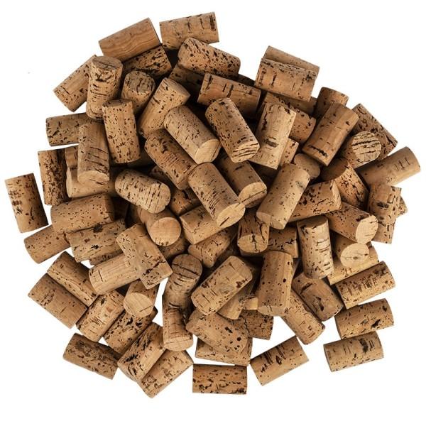 Weinkorken zum Basteln, 4,5cm lang, Ø 2,4cm, dunkel, 100 Stück