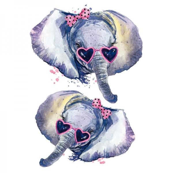 Color Bügeltransfers, DIN A4, Fashion Elefant
