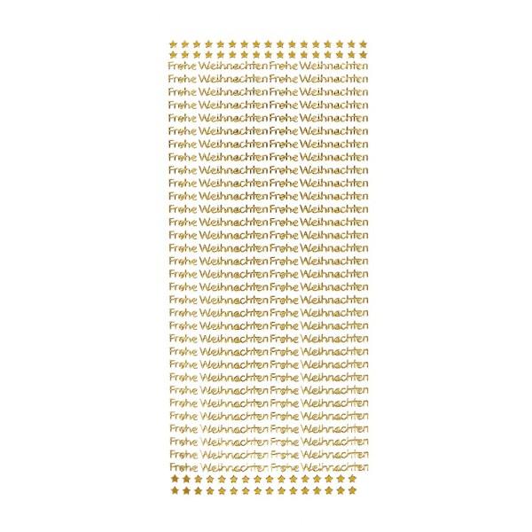 Sticker, Schrift, Frohe Weihnachten, gold