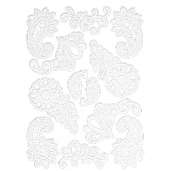 Velours-Stickerbogen, 15cm x 11cm, Ornamentik, Design 3