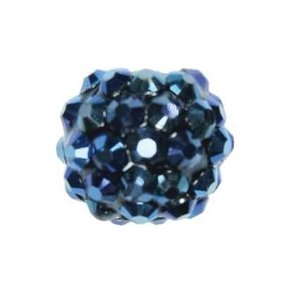 Kristall-Perlen, Ø14 mm, 10 Stück, nachtblau