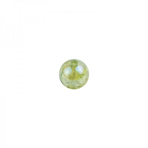 Perlen, transparent, irisierend, Ø8mm, 100 Stück, hellgrün