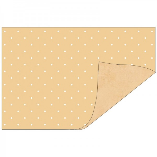 Faltpapiere, Duo-Design 33, 10cm x 15cm, Punkte/apricot, 50 Stück