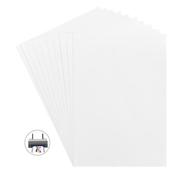 Inkjet-Bügel-Transferfolien, DIN A4, 120g/m², bedruckbar, 10 Bogen