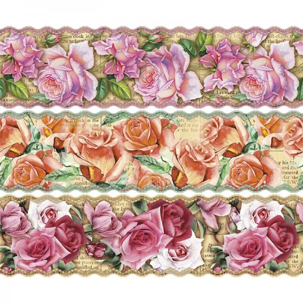 """Zauberfolien """"Nostalgie-Rosen"""", Schrumpffolien für Ø12cm, 11cm hoch, 6 Stück"""