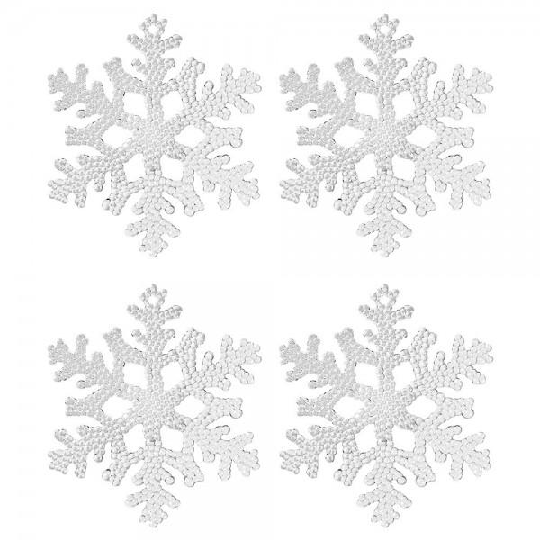 Deko-Eiskristalle 2, Ø 10cm x 0,3cm, klar, 4 Stück