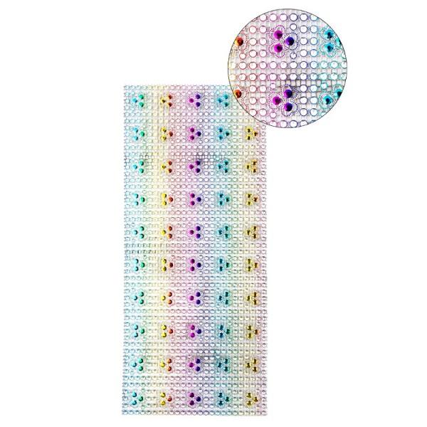 Schmuck-Netz, selbstklebend, 12 x 30 cm, bunt, Design 3