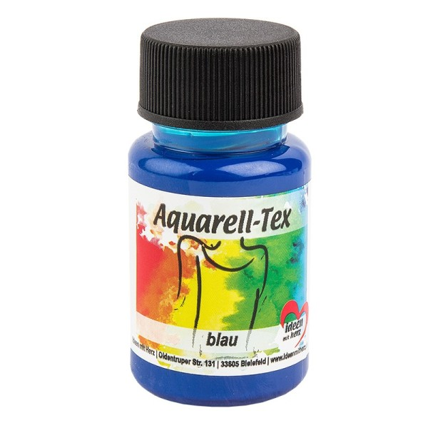 Textilfarbe, Aquarell-Tex, 50ml, blau
