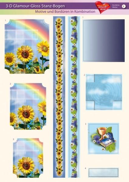3-D GlamourGloss Bogen, kirchliche Motive, DIN A4, Motiv 8