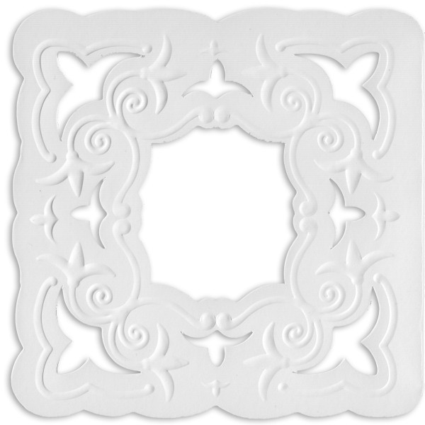 Ornamentik-Grußkarten, 14x14cm, 10 Stück, Design 4