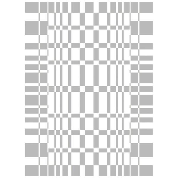 Metallic-Bügeltransfer, Hintergrund, Vierecke, 25cm x 34cm, silber glänzend